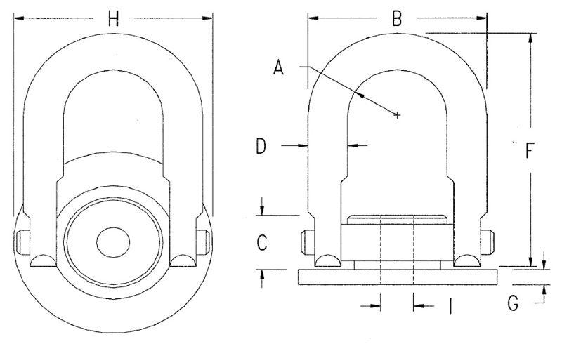 Round Base Swivel Pivot Hoist Rings