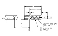 Lever Type Plunger: Locking, Metric_2